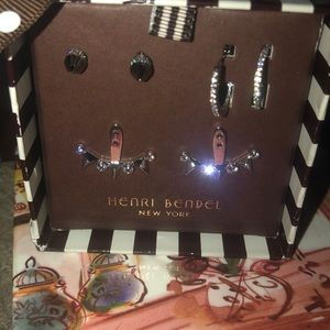 Henri Bendel Gift Box Earring Trio Set, NWT